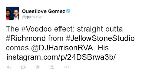 Questlove Gives Richmond Artist DJ Harrison Some Love